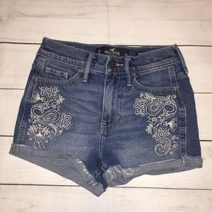 Hollister High Rise Short Short Jean Shorts